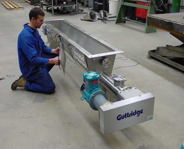 Guttridge manufacture Screw Discharger for pharmaceutical company