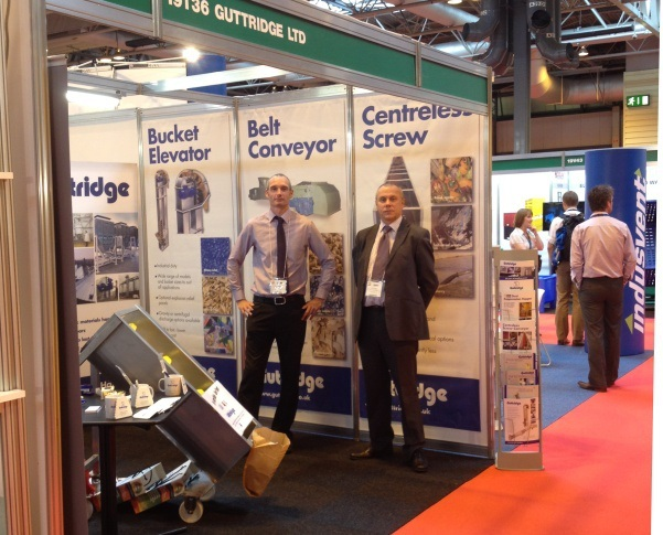 Guttridge exhibits conveyor that makes light work of sludges and wet materials at RWM 2012