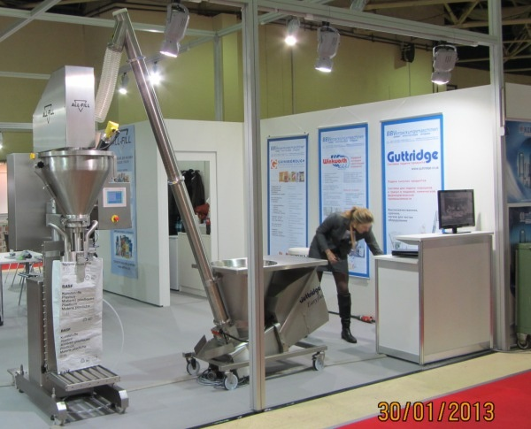 Guttridge exhibit at Upakovka 2013 in Moscow, Russia