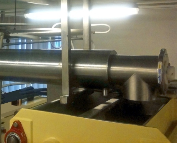 Stainless Steel Screw Conveyor with Heated Water Jacket Supplied to Heidi Chocolat