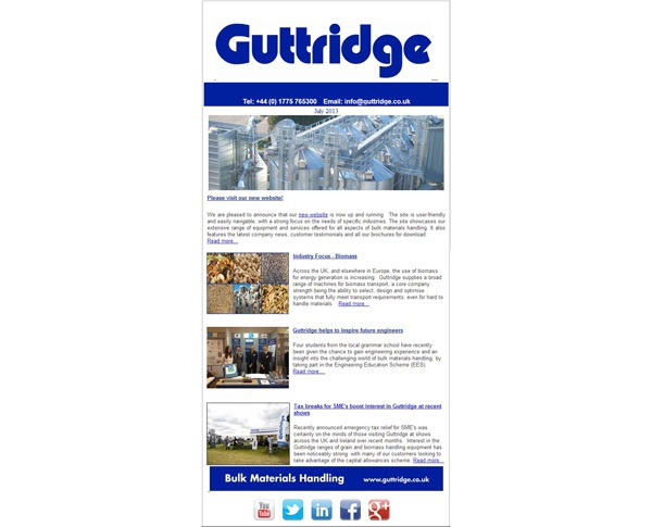 The latest Guttridge newsletter