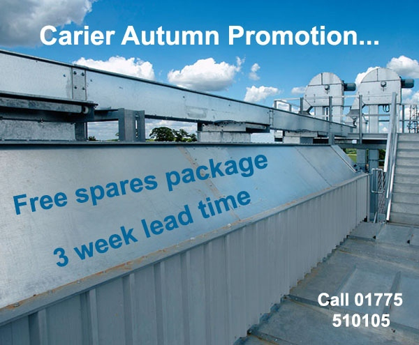 Carier autumn promotion – 3 week lead time and free spares package with all machines