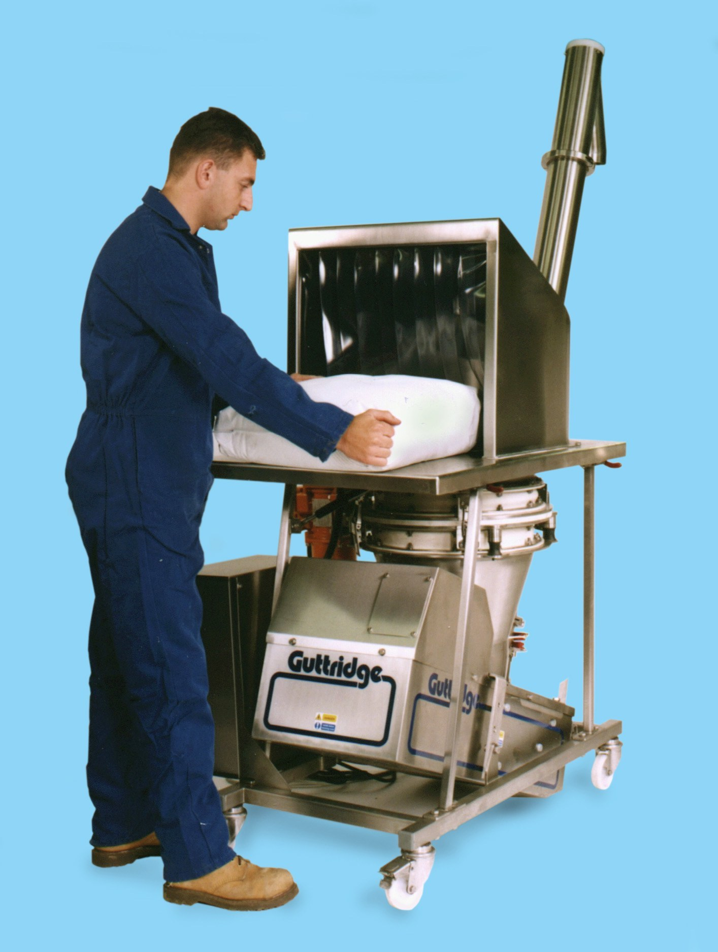 Sieveflo Mobile Screw Elevator with Check Sieve, Food Grade Machinery Range