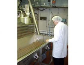 Compact discharge-to-mixer powder processing at Cadbury, Food Grade Hygienic: Conveyors Elevators Feeders