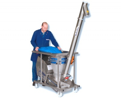 Sieveflo Mobile Screw Elevator with Check Sieve